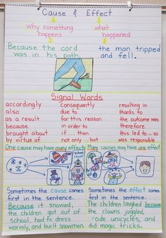 Cause and Effect Anchor Chart www.teachthis.com.au