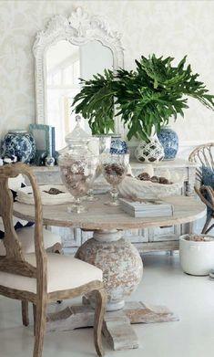 Verandah House, Interior Design, Blue and White Decorating