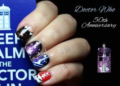 Doctor Who 50th Anniversary!!! ♥ ♥ by I'm A Nail Art Addict!