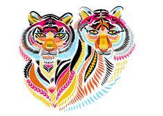 Print Club London – Two Tigers