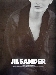 linda evangelista by peter lindbergh for jil sander fall 1994.