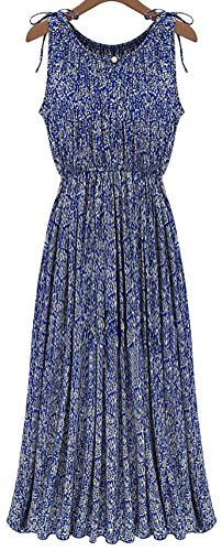 QZUnique Womens Summer Fashion Floral Printing Long Dress US 810 -- You can get more details by clicking on the image-affiliate link. #SweatersForWomen
