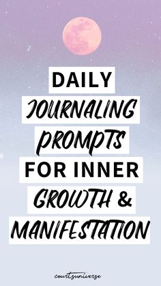 Journaling is one of the BEST ways to grow & create your dream reality. I'm sharing 10 journaling prompts you can use daily for inner growth & the manifestation of your dreams. Manifestation Journal, Manifestation Law Of Attraction, Law Of Attraction Quotes, Spiritual Manifestation, Spiritual Awakening, Spiritual Growth, Spiritual Quotes, Healing Quotes, Daily Journal Prompts