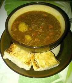 Sopa de Gandules y Jamón con Bolitas de Plátano | Sazón y Azúcar...