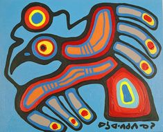 """Learn about Anishnaabe/Canadian artist Norval Morrisseau - 1932-2007 - dubbed the """"Picasso of the North"""" by the French press."""