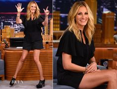 Julia Roberts In Elie Saab – The Tonight Show Starring Jimmy Fallon