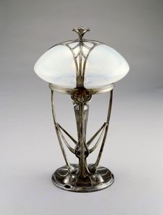 Lamp, Osiris series by Friedrich Adler (Designer, attributed), Walter Scherf & Co. (Manufacturer), circa 1900 to 1906.