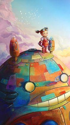 Steampunk Totoro by Studio Ghibli, Japan Hayao Miyazaki, Studio Ghibli Films, Art Studio Ghibli, My Neighbour Totoro, Culture Art, Pokemon, Girls Anime, Castle In The Sky, Howls Moving Castle