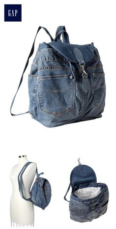 Recycled 1969 denim backpack
