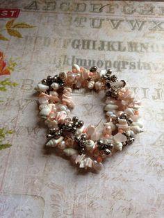 Shells Pearl Coral Rose Quartz and Crystal by TLCadornments