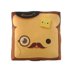 mymimi Monocle Monsieur Toast pillow