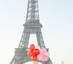Red and Pink Balloons in Paris,Paris Photography, Summer in Paris, Whimsical, Kid's Room Art, French Home Decor, Red, Pink, Rebecca Plotnick