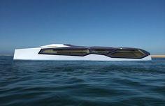 Belvédère yacht by Arthur Metge, via Behance