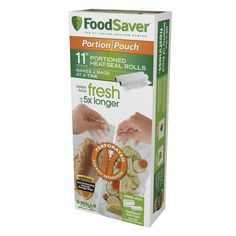 """Shop the FoodSaver® 11"""" Portion Pouch Vacuum-Seal Roll at FoodSaver.com. Buy in…"""