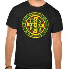 Cross of St Benedict Design 2 T Shirt, Hoodie Sweatshirt