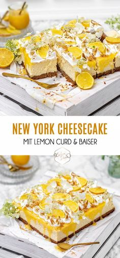 Frisch, fruchtig, sauer, lecker - der Sommerliche Blechkuchen Lemon Curd Cheesecake ist der Wahnsinn für warme Sommertage || Fresh, fruity, sour, yummy - this summer Lemon Curd Cheesecake is perfect for warm summer days