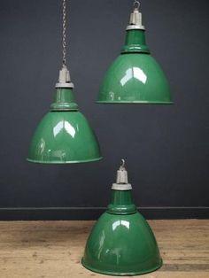 Green Enamel Industrial Pendant Light - All For Decoration Industrial Decor, Industrial Pendant Lights, Lamp, Industrial Lighting, Green Pendant Light, Industrial Lamp, Lights, Industrial Interiors, Light