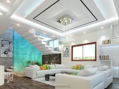 How to choose and buy a new and modern staircase – My Life Spot Fall Ceiling Designs Bedroom, House Ceiling Design, Bedroom False Ceiling Design, Residential Interior Design, Home Interior Design, Living Room 3d Design, Plafond Staff, Architecture Design, Luxury Rooms
