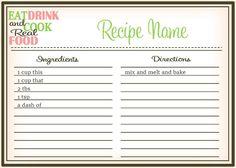 Real Food Recipe Cards: DIY, Editable - The Healthy Honeys