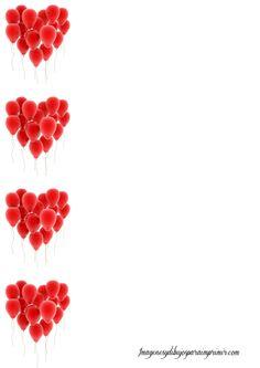 hojas con corazones para imprimir-Imagenes y dibujos para imprimir
