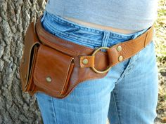 Don't call it a fanny pack!!! Hitchhiker Hip Bag - Leather Hip Purse. $79.00, via Etsy.