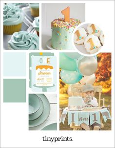 Mint First Birthday Party Ideas