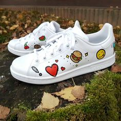 Some lovely Stan Smith hand painted very original !