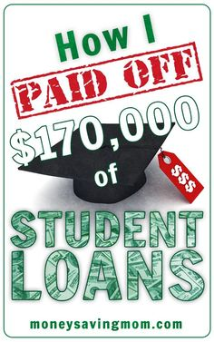 How one woman paid off $170,000 in student loans -- such an inspiring post! A must-read if you need some motivation for getting out of debt! Student Loans Payoff #StudentLoans #debt Pay off Debt, Student Loan Debt #debt
