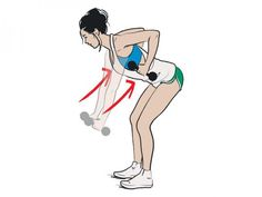 Upper Body Shred - bent over bd roll. Do for 30 seconds; 30 seconds rest; repeat 3 times.