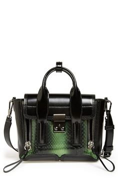 3.1 Phillip Lim 'Mini Pashli' Genuine Snakeskin & Leather Satchel available at #Nordstrom