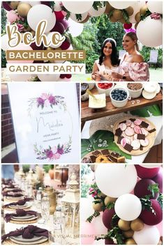 Creating a memorable, classy Bachelorette party doesn't need to be difficult! With 5 other bridesmaids, I set off to create a boho garden party for our bride to be. We all had our own jobs from decorations to food to entertainment and more. Click over for the inspo + grab your {free} printable Hen's game questionnaire from A Visual Merriment   Get the low down for your next bridal shower or Hen's party. #bachelorette #hens #party #balloonarch #avisualmerriment Unique Party Themes, Adult Party Themes, Birthday Party Themes, Classy Bachelorette Party, Bachelorette Party Planning, Hen Games, Boho Garden Party, Grown Up Parties, Party Buffet