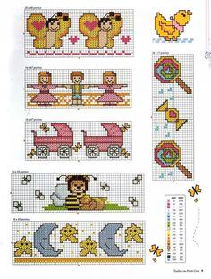 Baby-Bildchen zum Sticken / Kreuzstich / Cross stitches