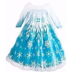 Fantasia Vestido Frozen Elsa +brinde Pres Coroa Frete Grátis - R$ 92,99