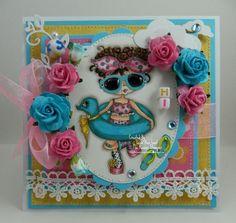 Hi Love My Shades Handmade OOAK Keepsake Card by thehoosierstamper, $14.95 USD