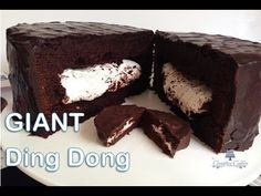 How to make a GIANT Ding Dong from Creative Cakes by Sharon - YouTube