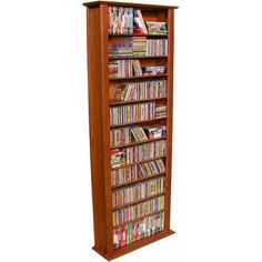 "Bookcase Media Tower - Tall Single (White) (76""H x 28""W x 9.5""D) by Venture Horizon. $169.95. Sturdy laminated MDF. Size: 76""H x 28""W x 9.5""D. Available in 5 Finishes. Color: White. Sleek, tall look - fits in any room. Organize your entire media collection - DVDs, CDs and Video Tapes in one unit! These tall, sleek, wall hugging multi-media racks give you an enormous amount of storage at a wallet-friendly price - a great value for any home! Each media rack is made of heavy du..."