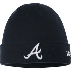 Men's Atlanta Braves New Era Navy Solid Cuffed Knit Hat, Your Price: $14.99
