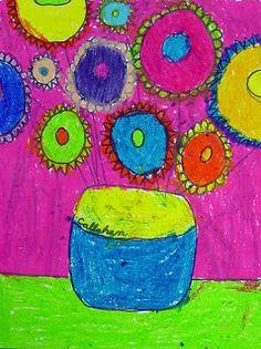 Sunflower Painting- Van Gogh  (kids interpretation)