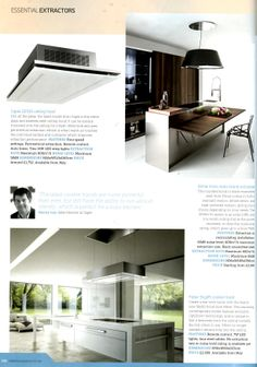 Elmar Kono Isola Island extractor, available from Laurence Pidgeon laurencepidgeon.com Essential Kitchen Bathroom Bedroom May 2014