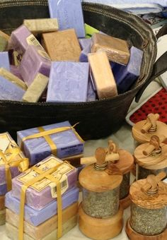 Great Party GiftsScented soaps and shakers of herbs of Provence -- in a stall somewhere in Paris...