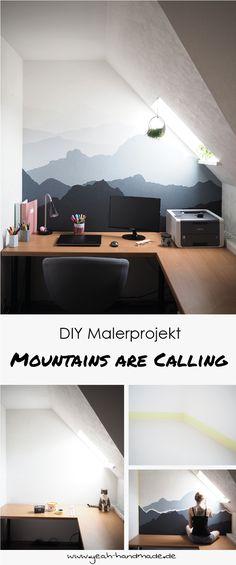 Schon DIY Malerprojekt: Mountains Are Calling. Wand MalenDiY WohnzimmerTapezierenDIY  ...