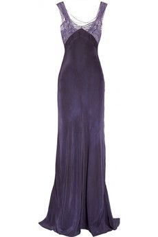 Erickson Beamon | Silk and lace gown  | NET-A-PORTER.COM