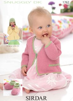 Cardigans and shoes in Sirdar Snuggly DK are available as a free sirdar baby knitting patterns download. These sweet cardigans are a great knitting project.