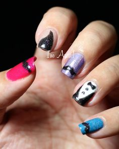 Nailstorming - Mustache Nails by I'm A Nail Art Addict! Love the Idea !
