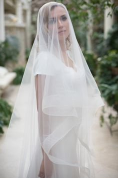 Horsehair Veil Bridal Veil Horsehair Drop Veil by ApilatWedding