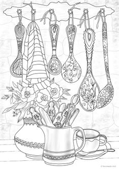 Spoons Printable Adult Coloring Page from Favoreads Coloring Free Adult Coloring, Adult Coloring Book Pages, Printable Adult Coloring Pages, Flower Coloring Pages, Christmas Coloring Pages, Free Coloring Pages, Coloring Sheets, Coloring Books, Abstract Coloring Pages