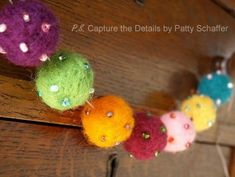 Needle felting how to: Make a bright, beaded & beautiful Needle Felted Banner