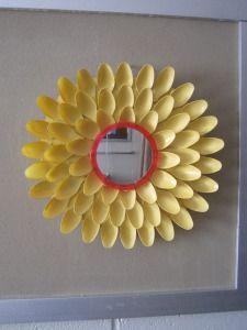 Dorm Room Decor Spoon Flower Mirror Dollar Store DIY