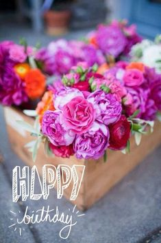 52 sweet and funny Happy Birthday images for men, women, siblings, friends & family. Touching birthday images full of humor & beautiful loving wishes. My Flower, Fresh Flowers, Beautiful Flowers, Bright Flowers, Magenta Flowers, Bright Colors, Bright Purple, Cut Flowers, Flower Colors