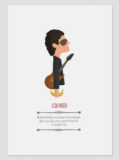 Lou Reed. by Tutticonfetti on Etsy